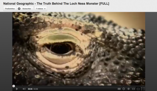 "National Geographic ""The Truth Behind the Loch Ness"""