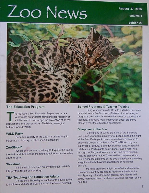 Salisbury Zoo Newsletter