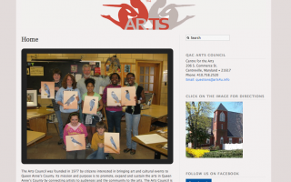 Queen Anne's County Arts Council Website